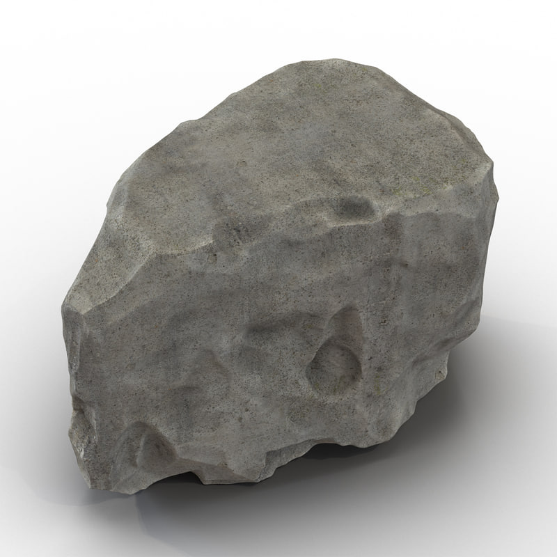 concrete chunk 4 3d model