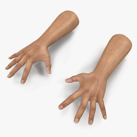 3d model man hands pose 4