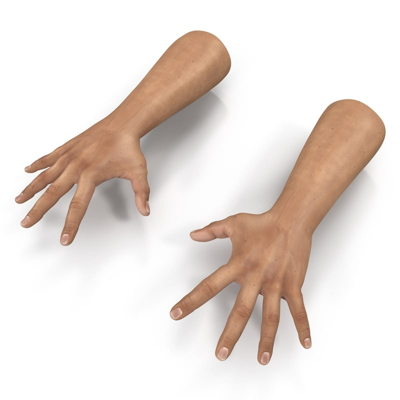 3d model man hands pose 4