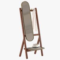 standing mirror poltrona frau 3d model