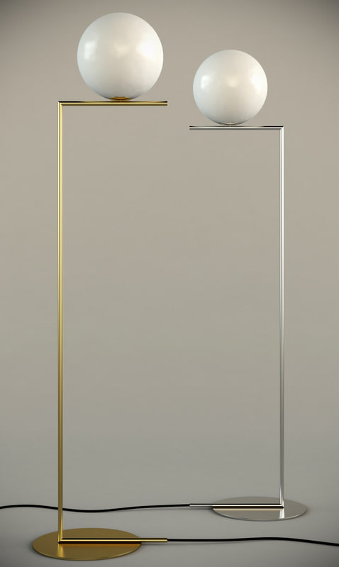 3d model ic floor lamp