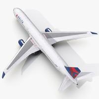 3d boeing 767-400er delta air lines