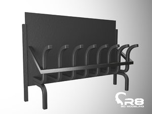3d stand firewood model