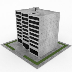 3d model office build 15