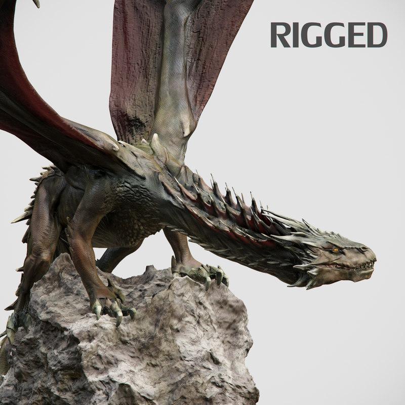 3d model dragon animation