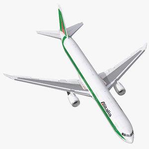 3d model boeing 767 400er alitalia