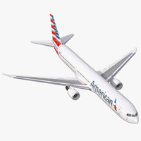 boeing 767 400er american airlines 3d max