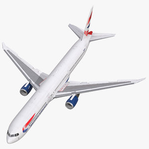 3d model of boeing 767 400er british airways