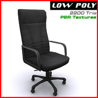 3d leather arm chair model