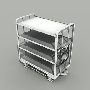 3d model transport cart -