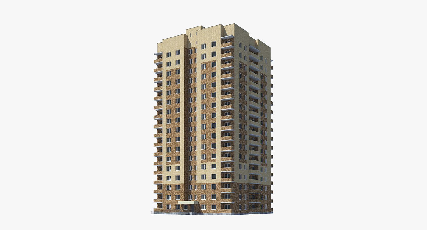 3d apartment building model