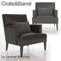 3d model tux leather armchair