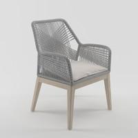 3d loom arm chair model