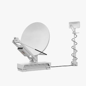 broadcasting tv antenna 3d model