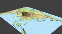 Asia surface low poly