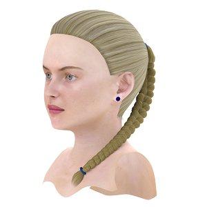 3d braid hair model