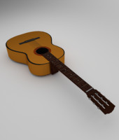 Low-Poly Classical Acoustic Guitar