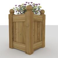 planter flowers 3ds