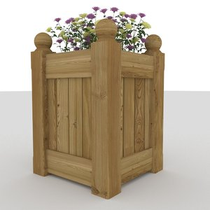 planter flowers 3ds