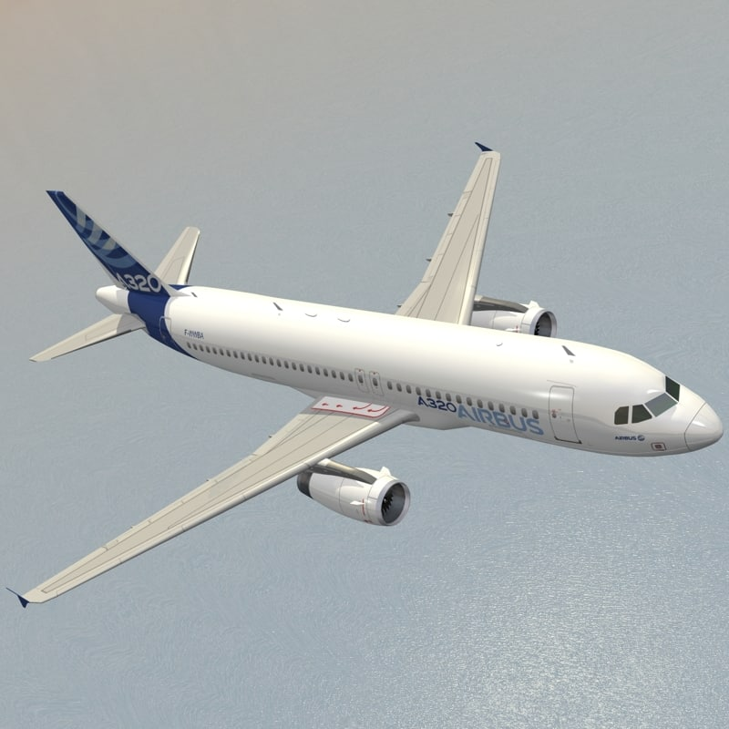3d dxf airbus a320-232 house livery