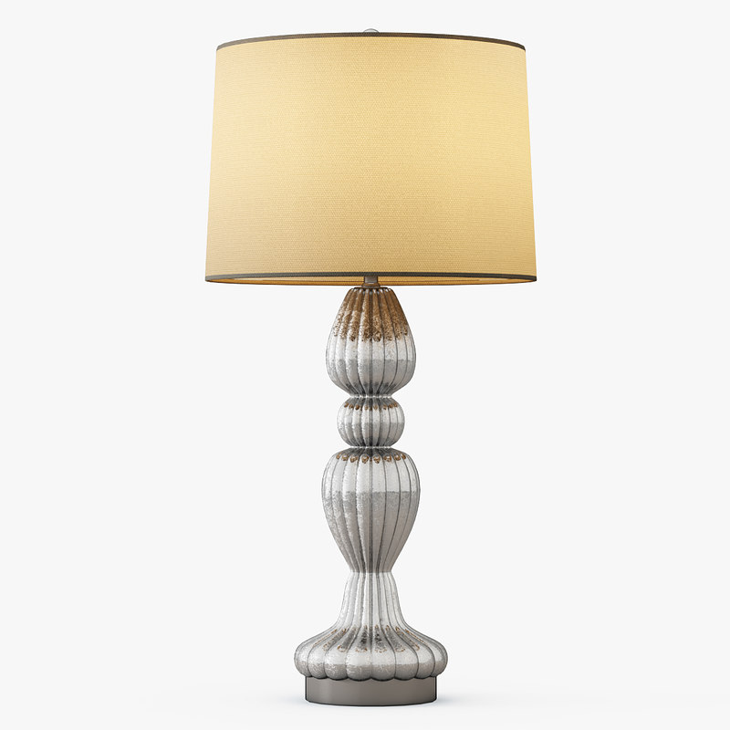 3d scalloped table lamp model