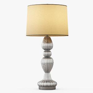 3d scalloped table lamp model