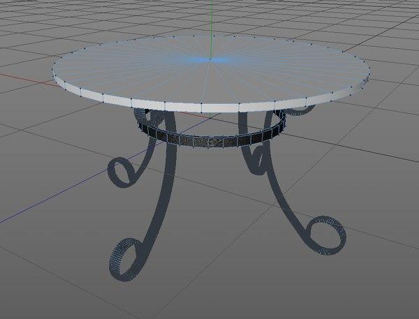 c4d modern table