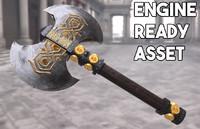 axe hobbit weapon 3d fbx