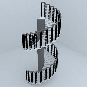 3d model stairs architectural design