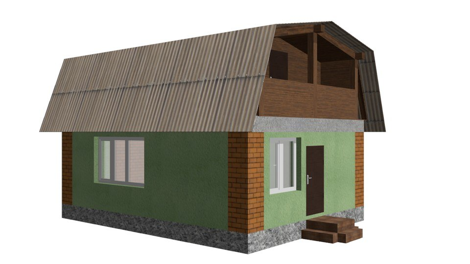 3d country house