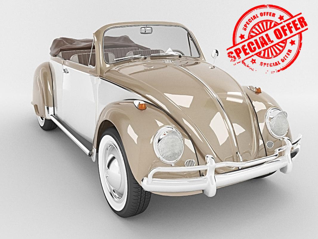 beetle volkswagen 3d model