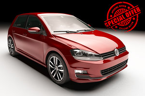 volkswagen golf vii 3d model