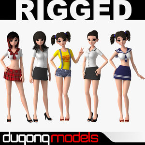 3d dugm06 asian cartoon girl