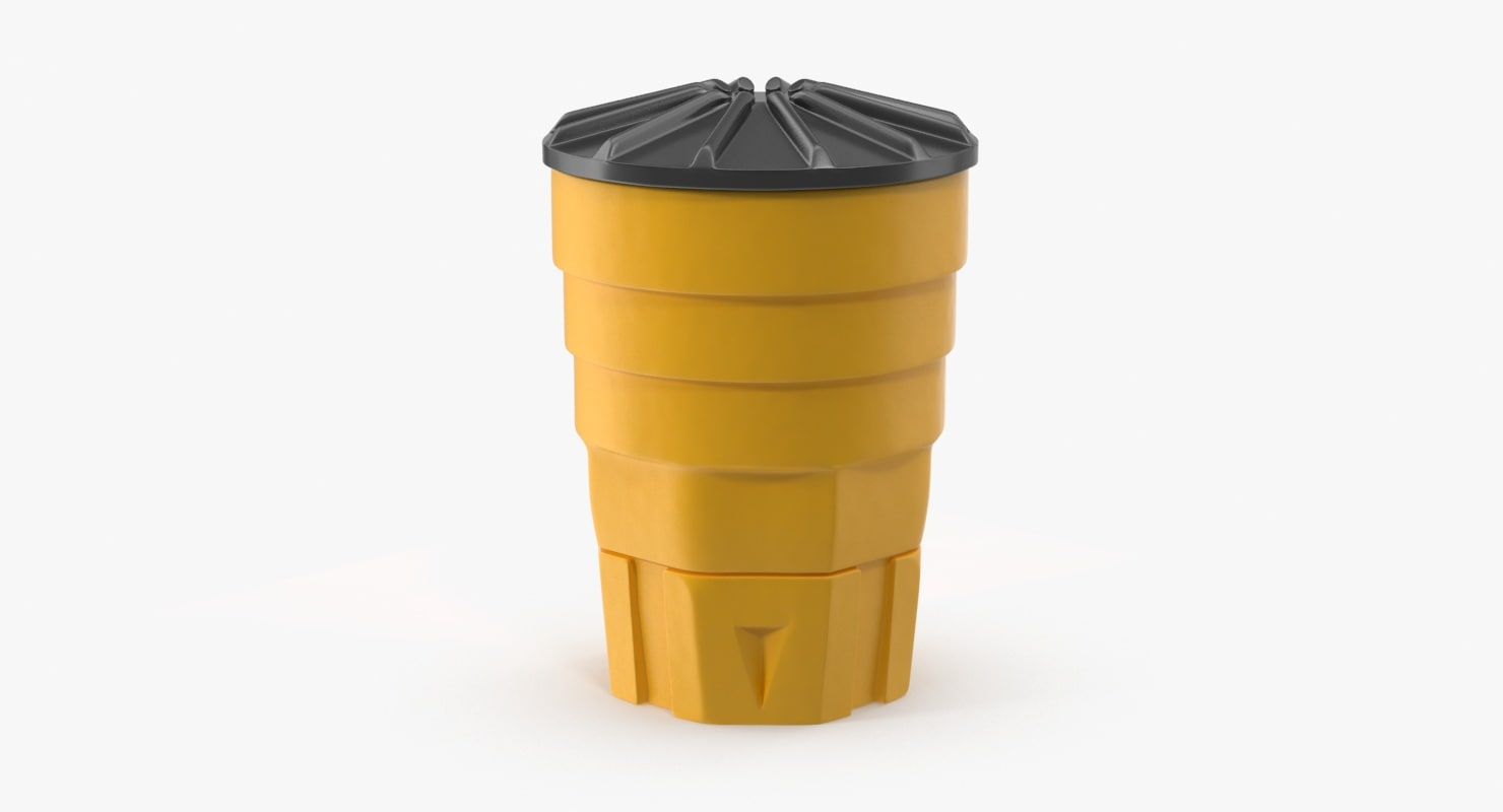 3d model highway exit barrel