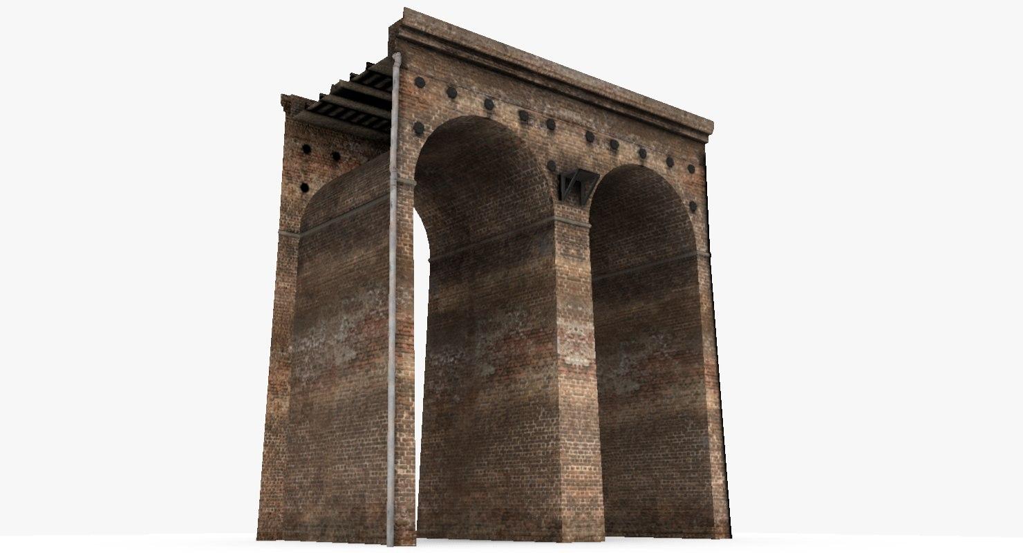viaduct segment 3d model