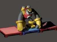 3d model gutsman exe megaman battle