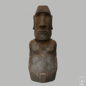 3d easter island statue