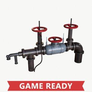 3d ma pbr industrial wellhead valve