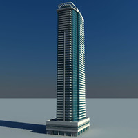 3d model le reve tower dubai