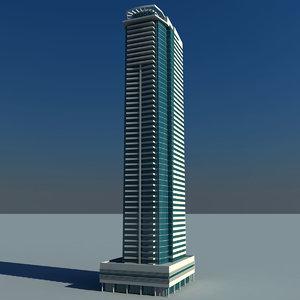 3d model le reve tower dubai