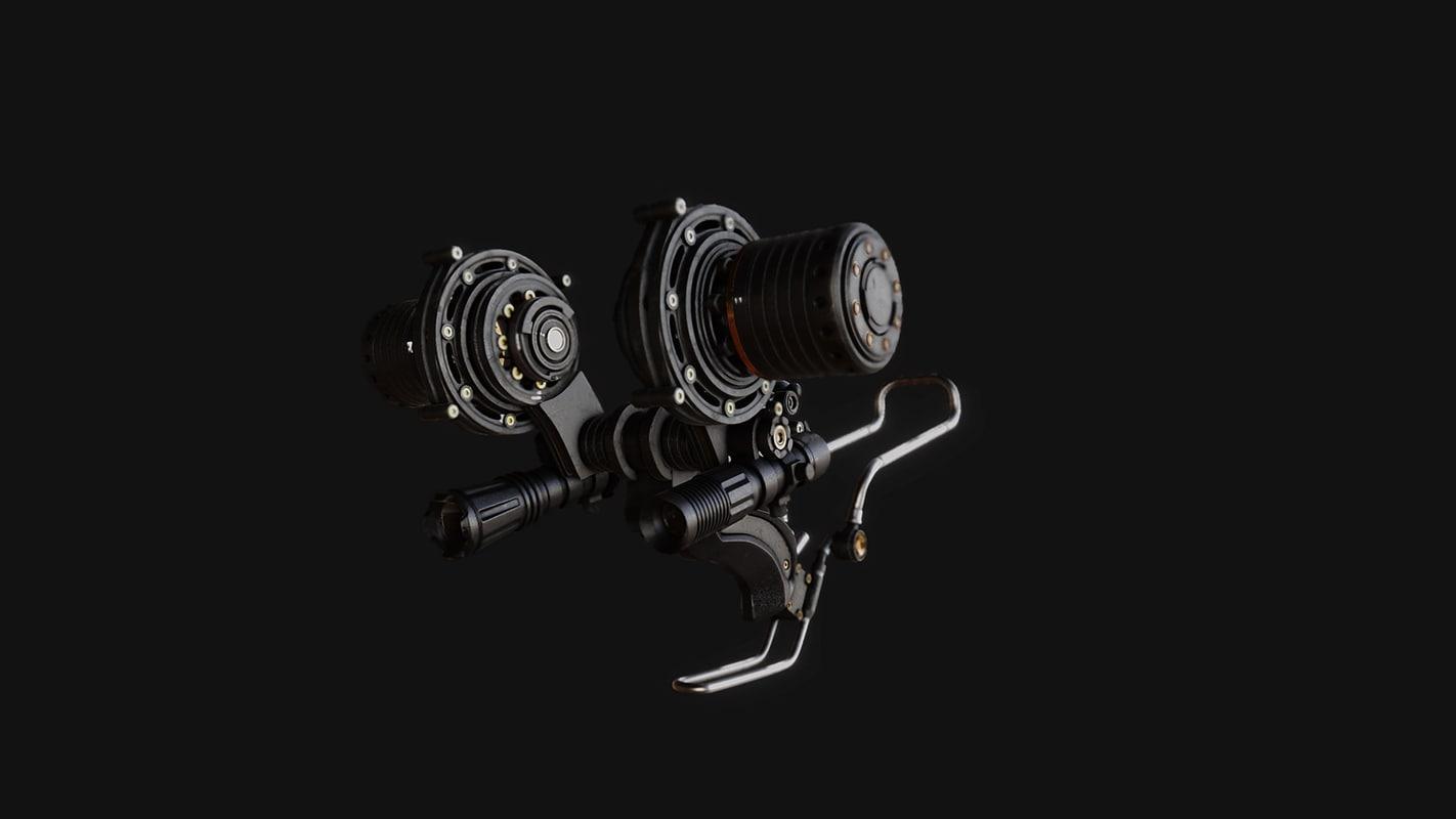 3d modern slingshot model
