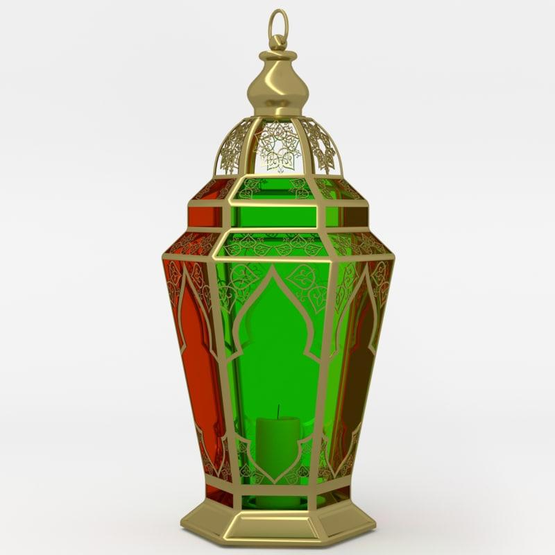 3d arabic lantern fanoos lamps
