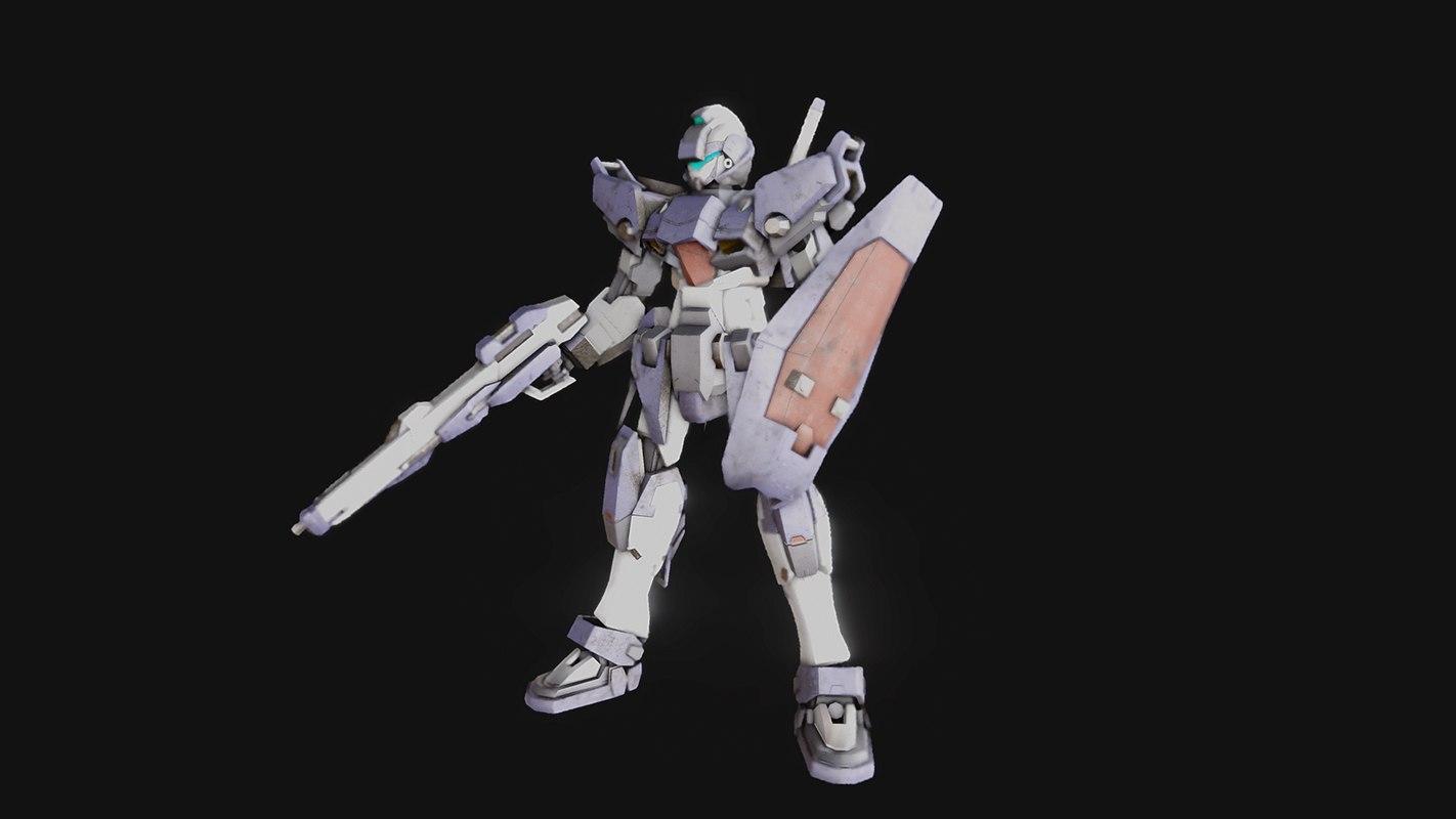 3d model of gundam