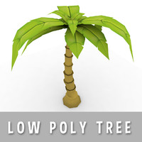Cartoon Palm Tree (Low Poly)