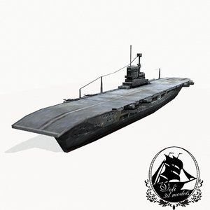 ark royal aircraft carrier 3d model