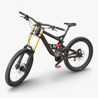 3d mountain bike generic rigged model