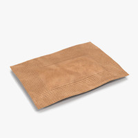 3d model sugar packet 3