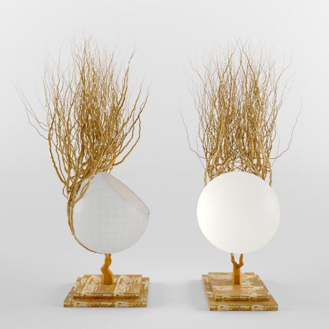 free tree lamp 3d model