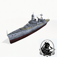 galissonniere cruiser class 3d model