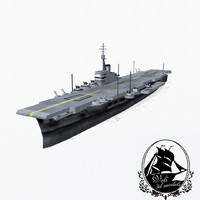 3d implacable-class aircraft carrier class model